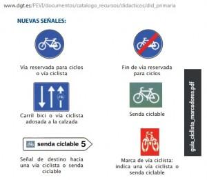 Nuevas señales ciclistas