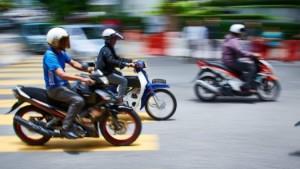 motos en la ciudad