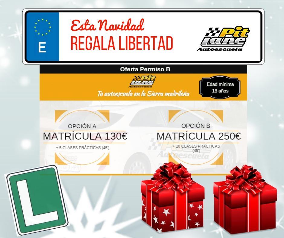 Regala Libertad con autoescuela Pit Lane en El Boalo