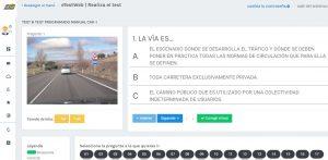 Test on line de autoescuela