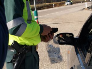 Control de la Guardia Civil en carretera