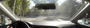 revisar espejos retrovisores en el examen práctico de conducir